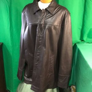 Kenneth Cole Reaction Men's XXL 100% Leather Coat